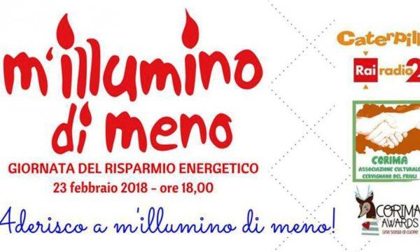 M'illumino di meno – sabato 17 febbraio a Verrua Savoia (TO) e venerdì 23 febbraio a Casale Monferrato (AL)