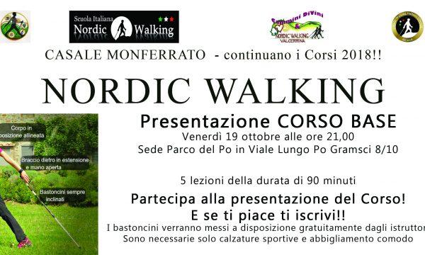 Nuovo Corso Base di Nordic Walking a Casale Monferrato (AL)